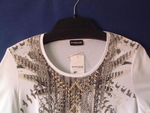Samoon Gr Rundhalsausschnitt modal 46 By Baumwolle Shirt Damen Weiß Gerry Weber HnH1SfO