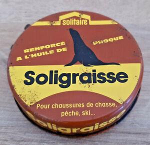 Ancienne-Boite-Publicitaire-Soligraisse-Solitaire-a-l-039-Huile-de-Phoque-Non-Vide