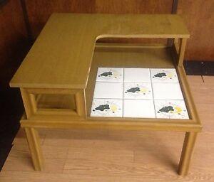 The Tilers Vtg Mid Century Modern Corner Table Coffee Side Atomic - Mid century modern corner table