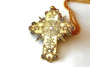 Golden dawn rose cross lamen talisman solid brass rosicrucian golden dawn rose cross lamen talisman solid brass mozeypictures Image collections