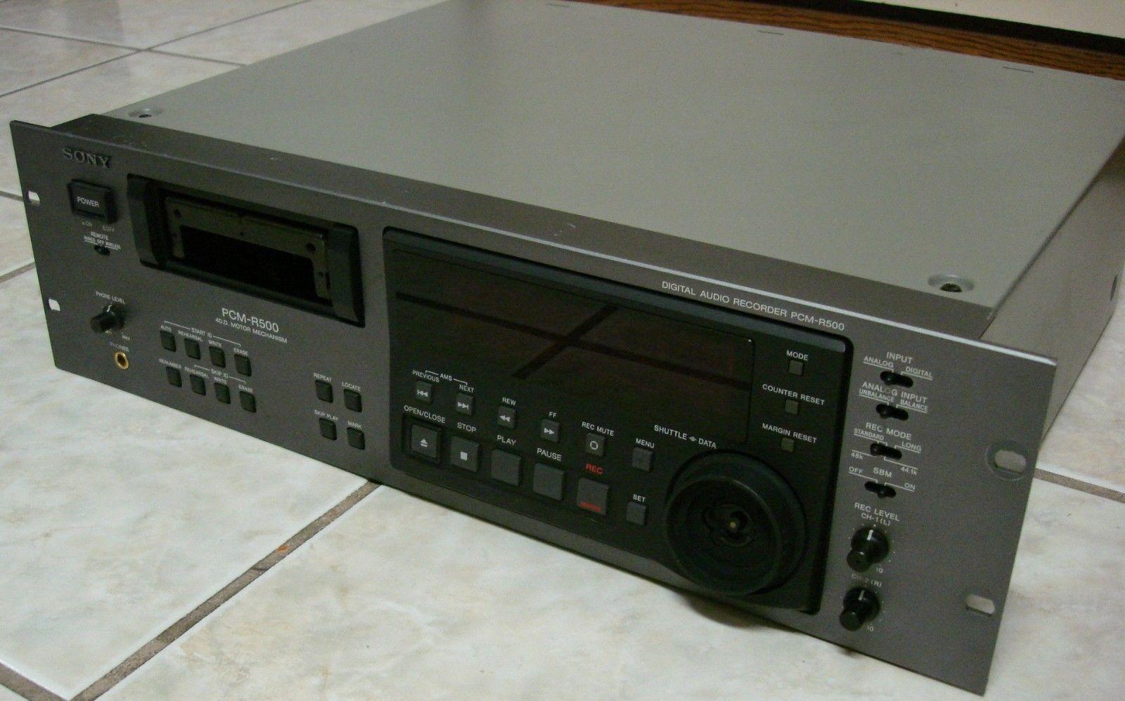 SONY PCM-R500 PCM-R500 PCM-R500 Digital Audio Tape DAT Player Recorder Deck 4-Motor DD SBM 0956 DH a767a0