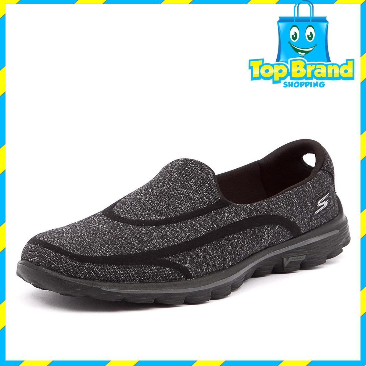 BRAND NEW - Skechers 13947 Go Walk femmes Casuals slip on chaussures - ALL TailleS BBK