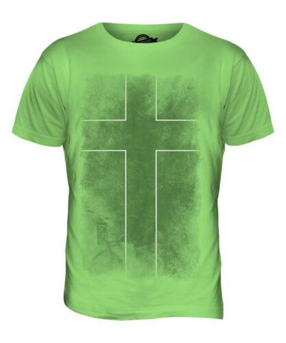 Ladonia délavé drapeau t-shirt homme tee top football cadeau chemise vêtements jersey