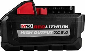 MILWAUKEE 48-11-1880 M18 REDLITHIUM HIGH OUTPUT 18v 8.0 Ah Lithium-Ion Battery