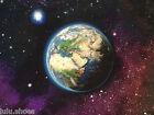 SISTEMA SOLAR Espacio Planetas Estrellas Tejido AZUL MARINO Algodón 140cm ancho