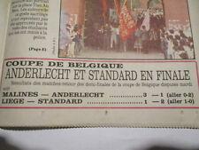 ANDERLECHT - STANDARD EN FINALE DE LA COUPE DE BELGIQUE 24/05/1989