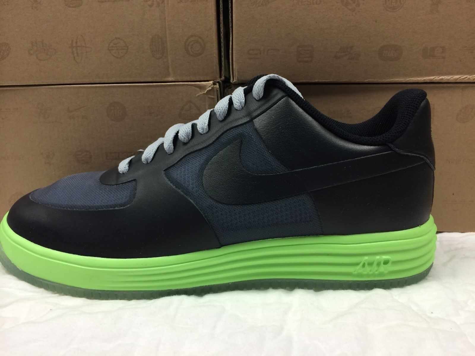 NEW MENS NIKE LUNAR FORCE 1 FUSE LTHR SNEAKERS-SHOES-SIZE 10.5
