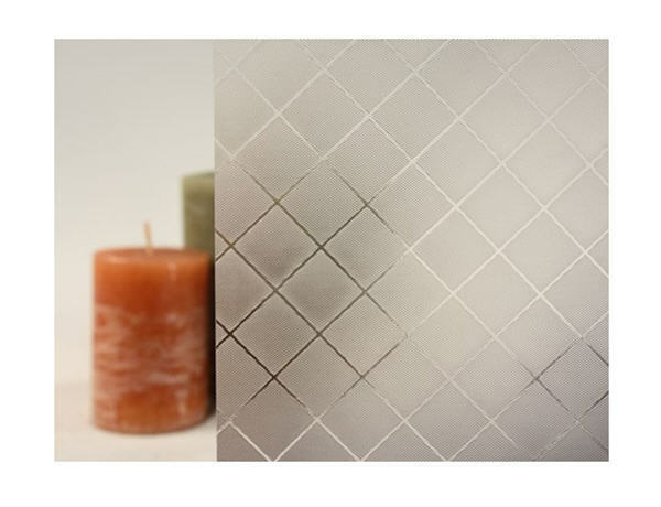 Clear Etched Squares Static Cling Window Film, 36  Wide x 15 ft