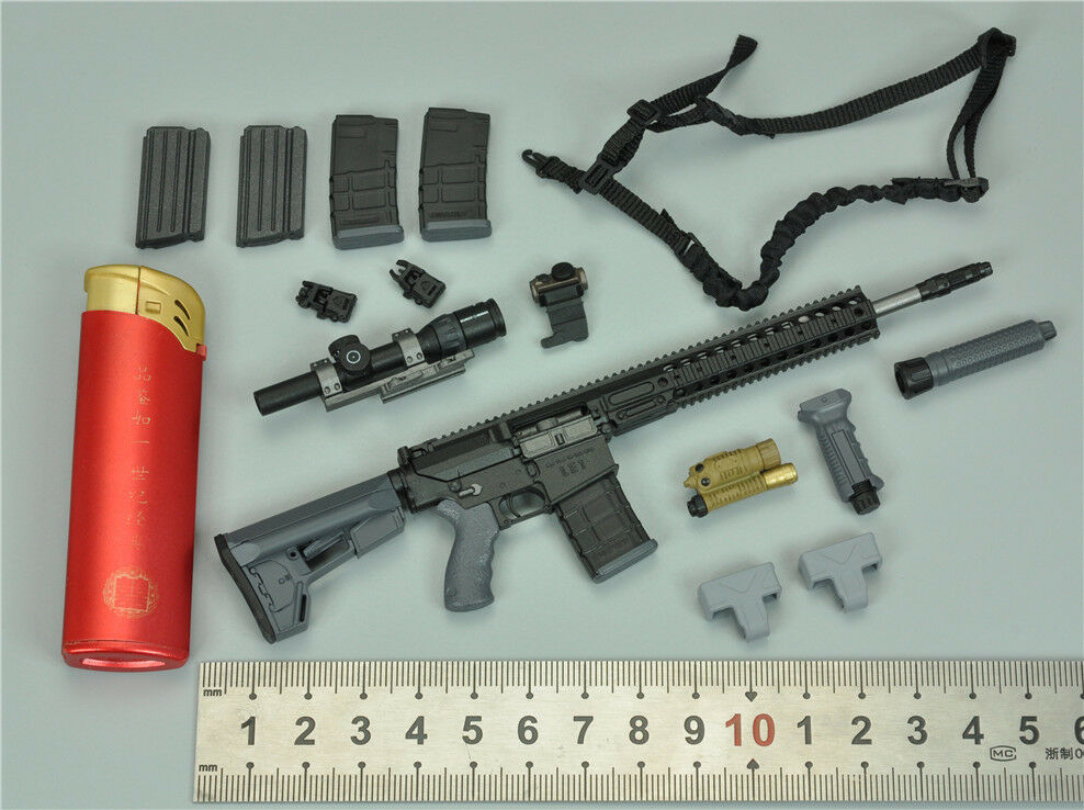 LE1 Rifle & Accessories for Green Green Green Wolf GWG007 ES DEVTAC RONIN 1 6 Scale 12'' New a5323b