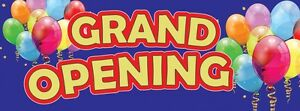 3ft x 8ft Grand Opening (y/r) Vinyl Banner -Alt to Banner Flag 3'x8'  (0022)