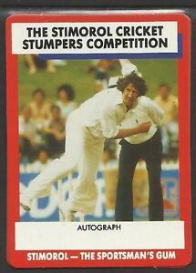 Australia 1990 Stimorol Gum Competition Card Cricket Trade Card No 70 Ebay