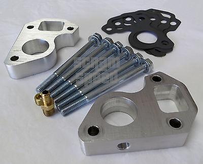 LS water pump spacers 3//4 thick Billet LS1 Camaro//Truck Swap w//steam port