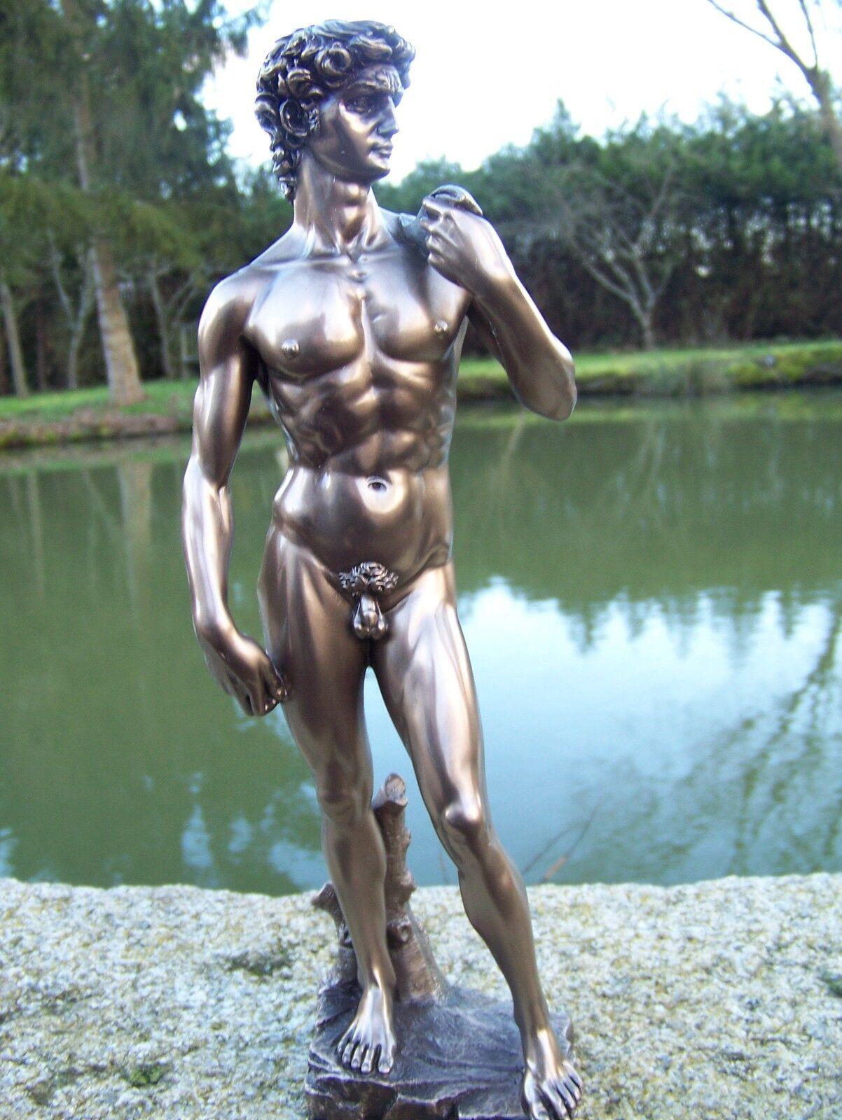 30050  FIGURINE  STATUETTE  LOUVRE  DAVID SELON  MICHEL ANGE   STYLE    BRONZE
