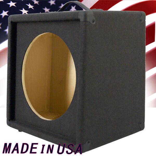 1x12 Empty Guitar Speaker Cabinet charcoal Black Carpet Slanted front G112SLBC