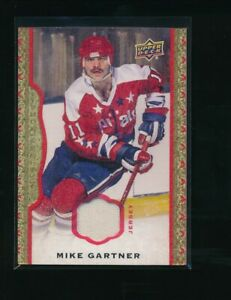 2014-15-UD-Masterpieces-Memorabilia-Framed-Red-Cloth-102-Mike-Gartner-71-85