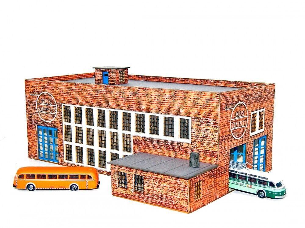 Lemkecollection Spur N H 5027 Lasercut Bausatz Busdepot inkl. 2x MB O66600