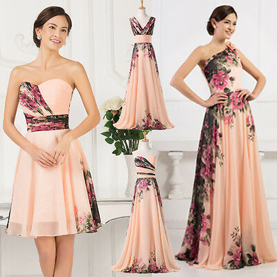 Elegant Formal Long/short Evening Ball Gown Party Prom Bridesmaid Dress FREE P&P