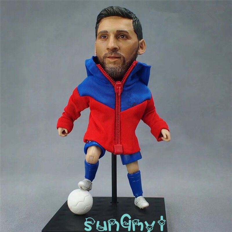 Lionel Messi Action Figure silverina Barcelona Statue Football Souvenirs 5.1''H