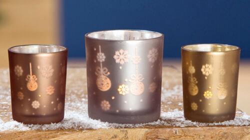 Kerzenhalter Kerzenglas G24428 Votivglas Windlicht Weihnacht 3er-Set