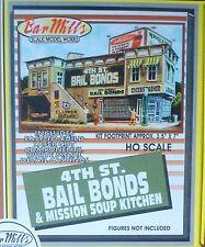 Bar Mills #132 (HO Scale) 4th St Bail Bonds/Mission (Building Kit)