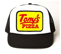 Tonys Pizza Retro 1980s Old School Trucker Cap Hat Vintage Costume Rock Punk