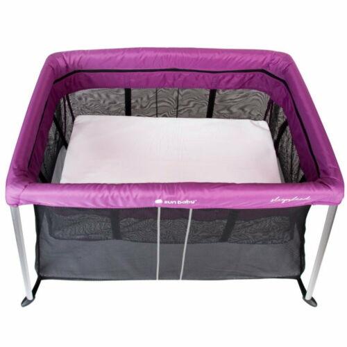 Baby Reisebett Babybett Aluminium mit 2 Schlafebenen Matratze Beistellbett lila