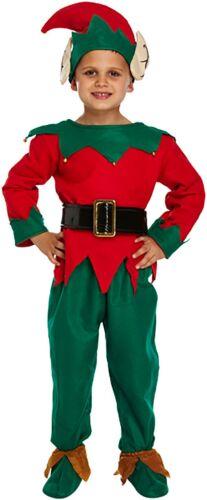 MENS KIDS ELF HAT SHOES SET CHRISTMAS FANCY DRESS COSTUME ACCESSORY PIXIE LOT