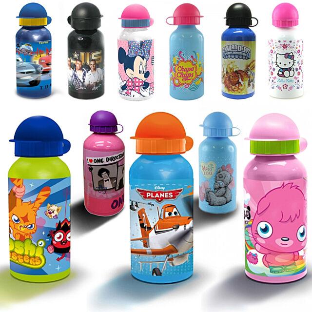 Disney Kids Tv Character Aluminium School Lunch Water Bottle Brand New Gift
