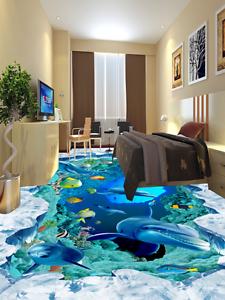 3D Papel de Parojo de suelo glaciar lecho marino 8924 Murales Parojo impresión AJ Wallpaper Reino Unido Limón