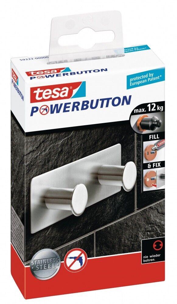Tesa Powerbutton® Doppelhaken Classic Klebehaken 12kg