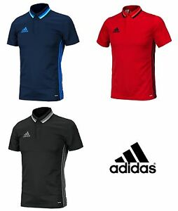Adidas Men Condivo 16 Polo Jersey Shirts Football Soccer Black Red Navy Shirt