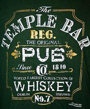 Temple Bar Dublin Ireland Mens XL T Shirt Irish Whiskey St. Patricks Day Pub