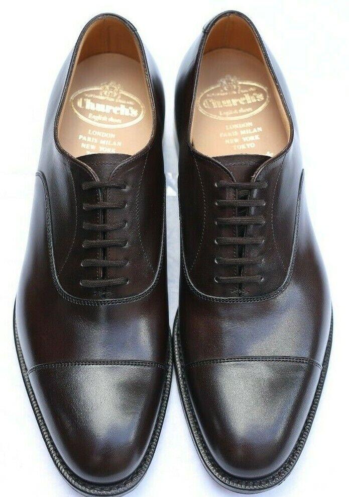 Nuevo y sellado de la Iglesia podría Ubai 'Oxford Marrón Oscuro Zapatos 6 nos G-Ancho