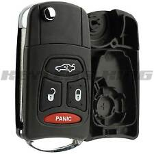 Remote Car Key Fob Keyless Entry Shell Flip Case 4b for Chrysler Dodge Jeep