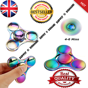 2-Fidget-Spinner-Colore-Metal-DEL-main-Spinner-EDC-du-bout-des-doigts-Gyro-Stress-Jouets
