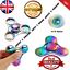2-Fidget-Spinner-Colore-Metal-DEL-main-Spinner-EDC-du-bout-des-doigts-Gyro-Stress-Jouets miniature 1