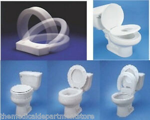 Mds Online Hinged Elevated Toilet Seat Round Or