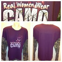 Womens Camo Lady Bell Realtree Long Sleeve Real Women Wear Camo Size 2xl,