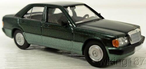 Brekina NEW HO 1//87 Scale Mercedes Benz 190 D Sedan in 2-Tone Metallic Green