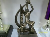 Basketball Trophy Or Award, Great Design, About 6 Tall, W/ Engraving
