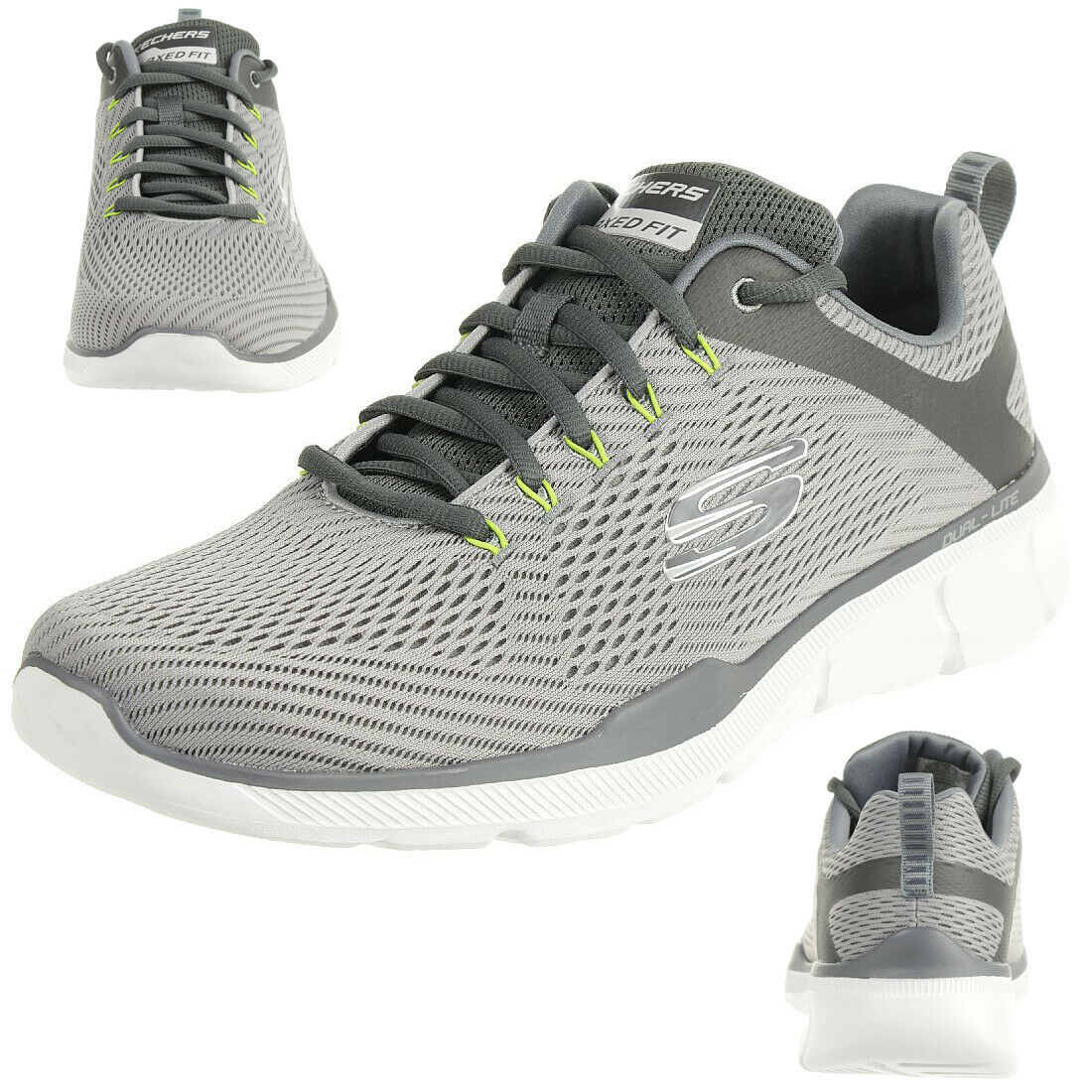 Skechers Equalizer 3.0 Men's Air Cooled Trainers Trainer Memory Foam Grey