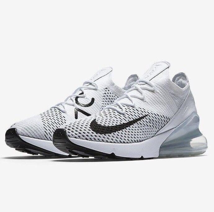 Womens Nike AIR MAX 270 FLYKNIT Running shoes -AH6803 100 -Sz 9.5 -New