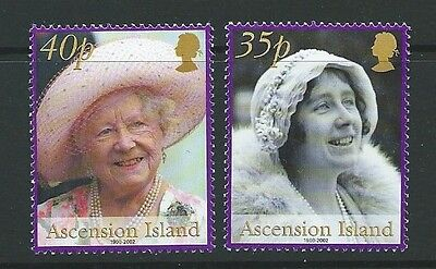 Stamps Ascension Sg848/9 2002 Queen Mother Mnh Discounts Price