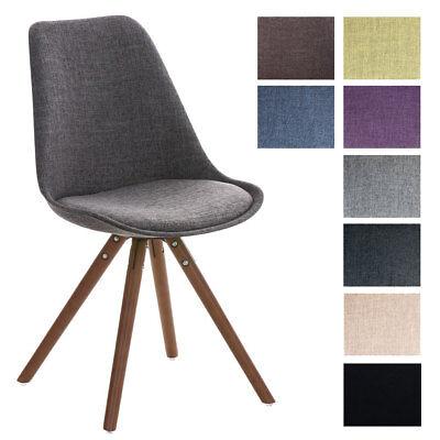 Design Besucherstuhl PEGLEG walnuss Stoff Retro Stuhl Konferenz Wartestuhl NEU