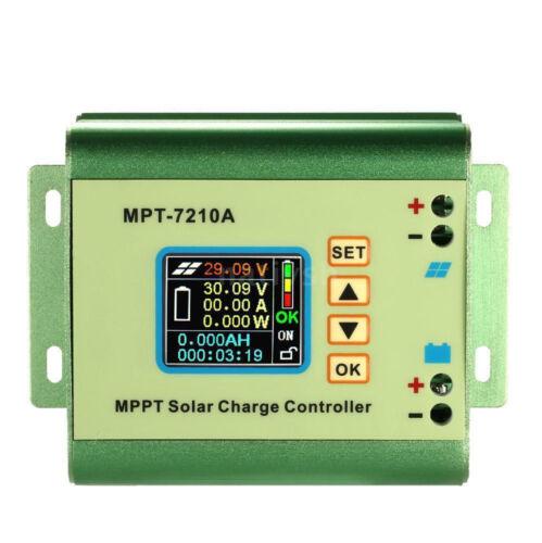 10A LCD MPPT Solar Controller Voltmeter Ammeter Boost Power Converter 12-60V