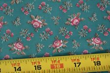By 1//2 Yd Cranston M7667 Pink Floral on Navy Quilting Cotton