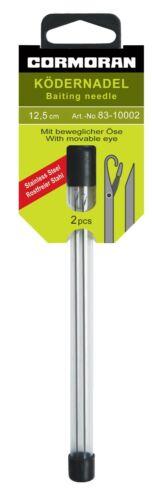 Cormoran Ködernadel 12,5cm 2 Stück Baiting Needle mit beweglicher Öse