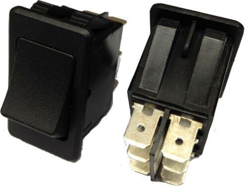 ROBINSON TWIN CIRCUIT DOUBLE POLE RECTANGLE BLACK ROCKER SWITCH 12V ON//ON K624