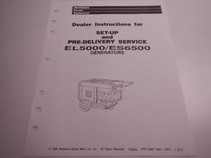 Honda es6500 service manual | tigualenceo | honda generator.