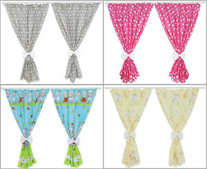 NURSERY-CURTAINS-BABY-CHILD-KIDS-BEDROOM-WINDOW-DECORATION-BOWS-PINCER-CLIPS